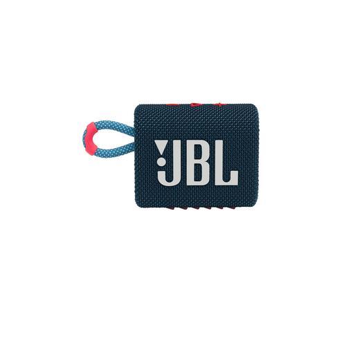 JBL GO 3 Portable Waterproof Speaker -Blue/Pink
