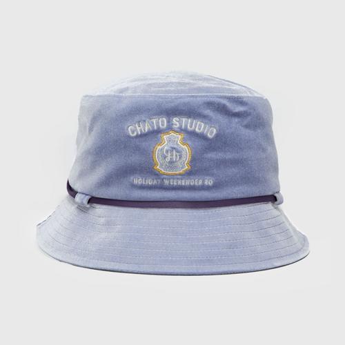 CHATO STUDIO Velvet Bucket Hat-Purple
