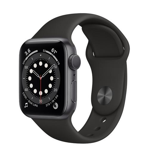 Apple Watch Series 6 (GPS) Space Gray Aluminum Case  with Black Sport Band(40mm)