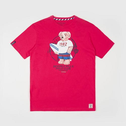 BEVERLY HILLS POLO CLUB  T-Shirt - Dark Pink - M