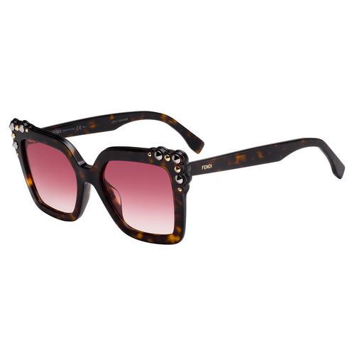 芬迪 FENDI FF 0260/S Dark Havana Acetate 太阳眼镜 52mm