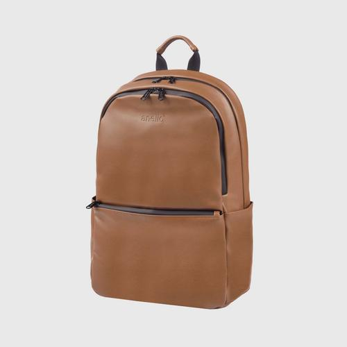 ANELLO OS-S076-ALTON Round Reg. Backpack-LIGHT BROWN