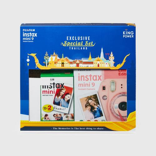 Fujifilm Instax Mini9 Exclusive Special Set - Clear Pink