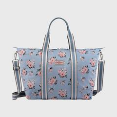 Cath Kidston Foldaway Overnight Bag Grove Bunch Grey Blue
