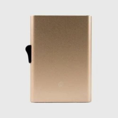 C-SECURE RFID XL Single Card holder Champagne Gold