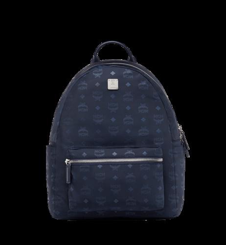 MCM Stark Classic Backpack in Monogram Nylon - Navy Blue (Medium)
