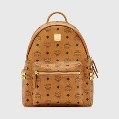 MCM Stark Side Studs Backpack in Visetos Small
