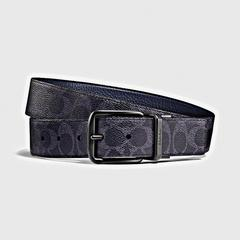 COACH(蔻驰)HARNESS宽型可裁剪双面经典标志腰带