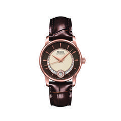 MIDO Baroncelli Diamons Brown Strap 33mm
