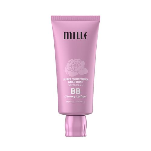 MILLE Super Whitening Gold Rose BB Cream SPF30 PA++ 30g #2 Glowing Natural