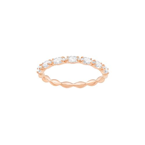 SWAROVSKI Vittore Marquise Ring, White, Rose gold plating-Size 50
