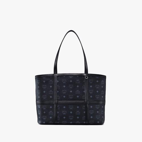 MCM Medium Visetos Delmy Tote Bag - Black