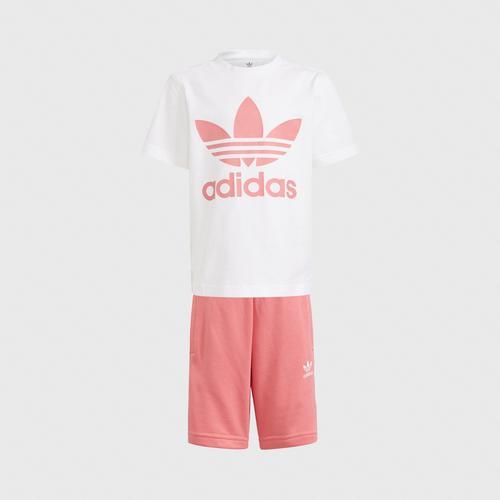 Adidas SHORT TEE SET - WHITE SIZE 104 CM UK
