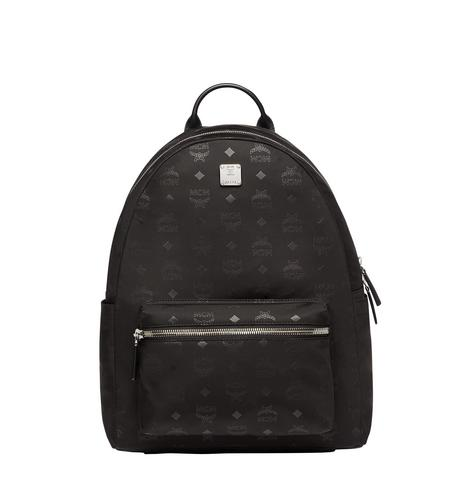 MCM Stark Classic Backpack in Monogram Nylon - Black (Medium)
