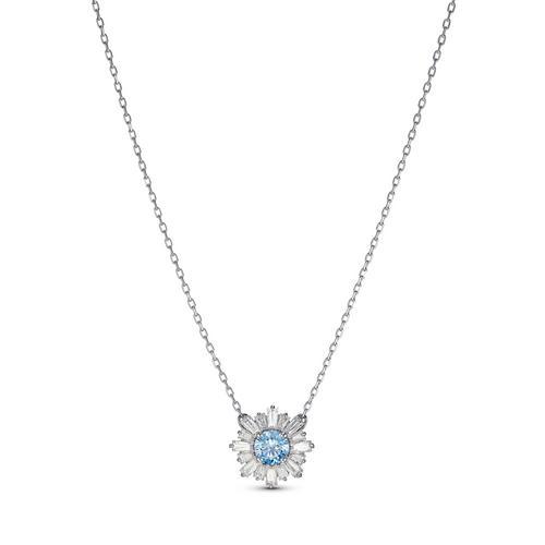 SWAROVSKI Sunshine Pendant, Blue, Rhodium plated