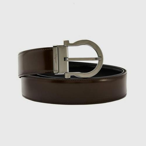 SALVATORE FERRAGAMO Reversible and Adjustable Gancini Belt