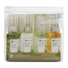 BATH&BLOOM LEMONGRASS MINT MINI ZIP BAG SET (4x50ML)