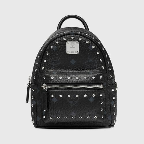 MCM Stark Bebe Boo Backpack in Studded Outline Viset X Mini