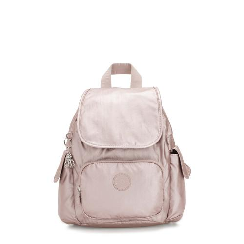 KIPLING CITY PACK MINI METALLIC ROSE