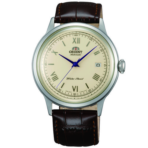 ORIENT Mechanical Classic Watch, Leather Strap 40.5mm (AC00009N)