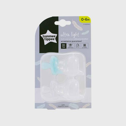 TOMMEE TIPPEE  Ultra Light Silicone Sooth For 0-6 months - Green