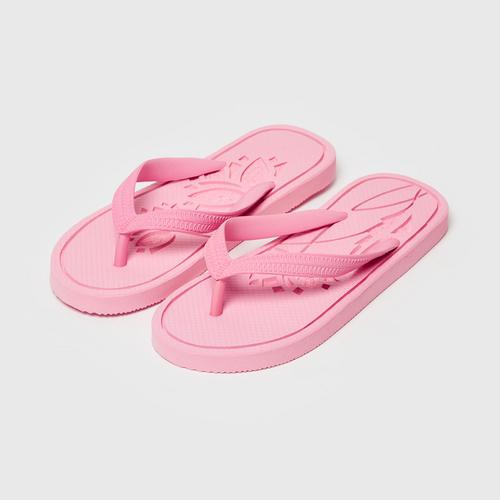 LEELAS Slippers carve pink Lotus Size 9.5