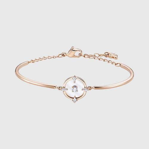 SWAROVSKI North Bangle, White, Rose-gold tone plated - Size S