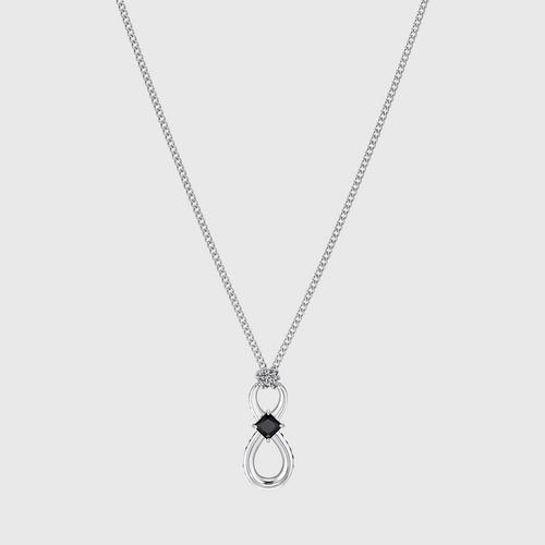 SWAROVSKI Infinity Pendant, Black, Rhodium plated