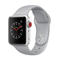 APPLE WATCH Series3 GPS+Cellular 42 mm Silver Aluminium Case with Fog Sport Band