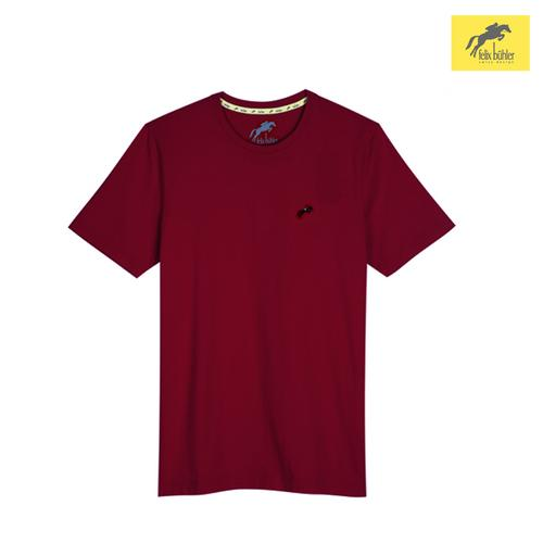 FELIX BÜHLER MEN'S SMART FIT T-SHIRT (RED WINE) SIZE S