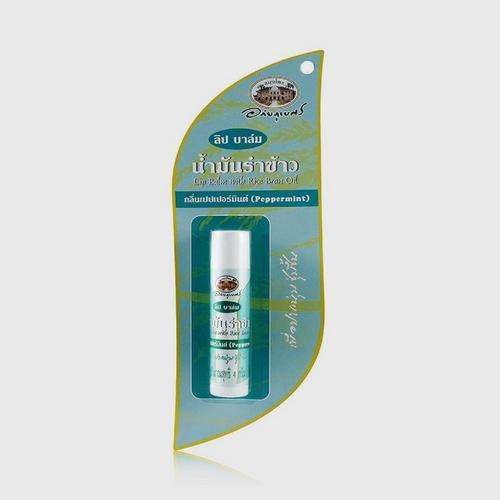 Abahibhubejhr Lip Balm With Rice Brand Oil Peper mint Formula