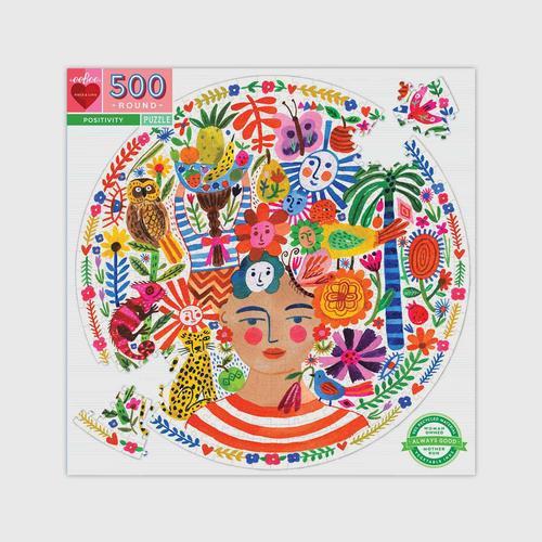 EEBOO - Positivity 500 Pc Round Puzzle