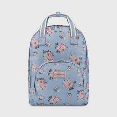 Cath Kidston Multi Pocket Backpack Grove Bunch Grey Blue