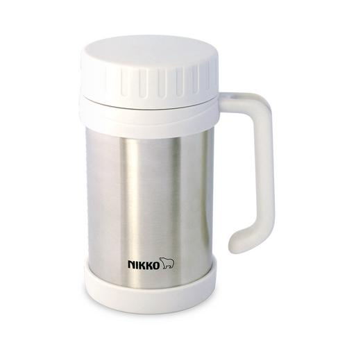 NIKKO Stainless Steel Vacuum Mug  500 ml. CHX - Stainless