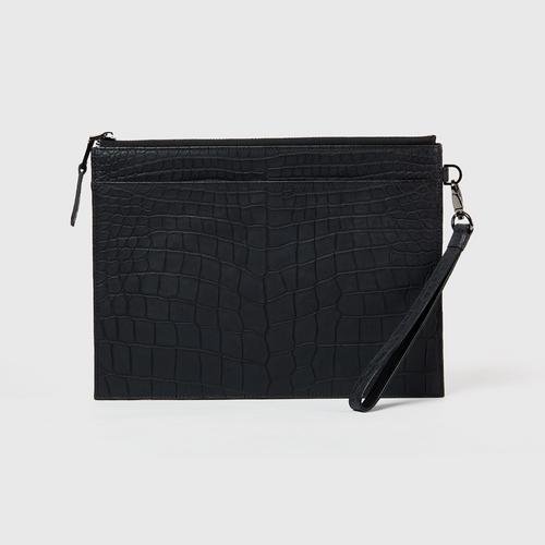 Longlai Crocodile Medium Pack Pouches Black Colour