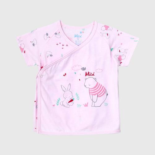 LITTLE WACOAL Top & Bottom short sleeve (Pink)