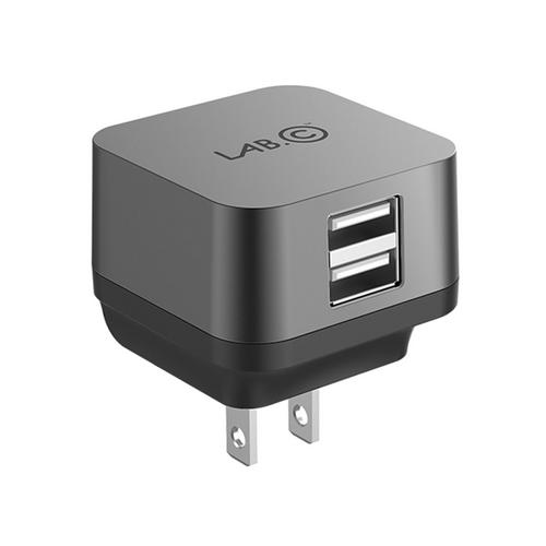 LAB.C X2 2 Port USB Wall Charger 3.4A - Grey