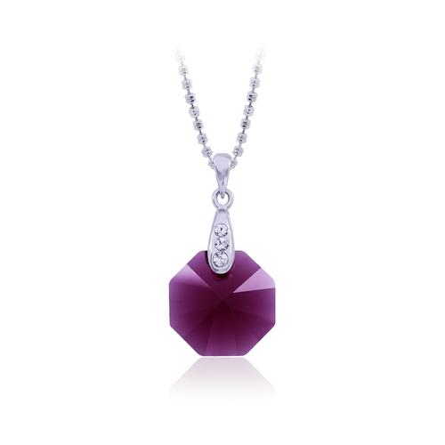 12VICTORY Octagon Ruby Necklace