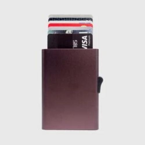 C-SECURE RFID XL Single Card holder Coral Brown