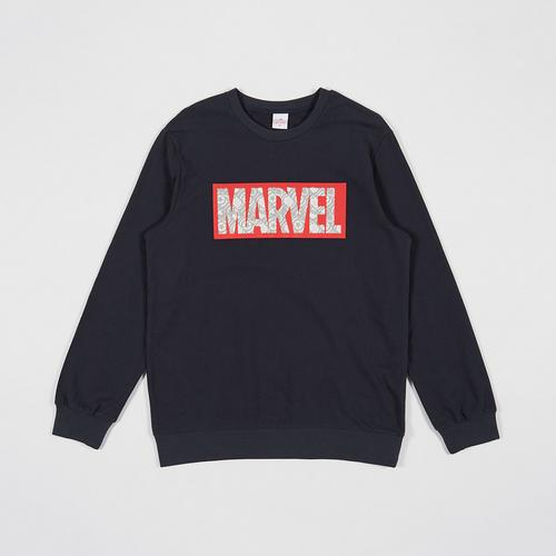 MARVEL Men SweatShirt Marvel Logo Dark Blue-M