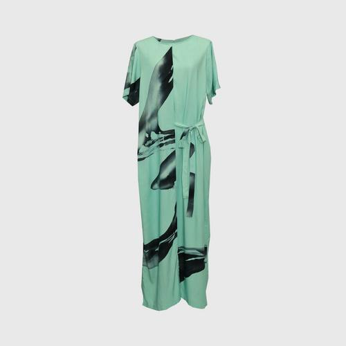 LAISEN skirt jumpsuit with back zip and side ties - Mint Green