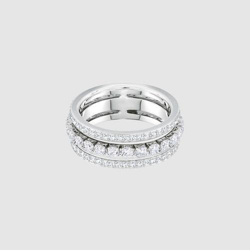 SWAROVSKI Further Ring, White, Rhodium plating - Size 55