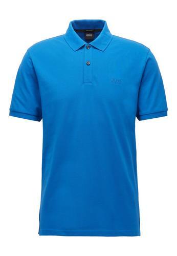 服装HUGO BOSS Pallas Pique Polo (Bright Blue) Size S