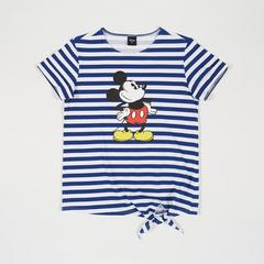 Disney Women T-Shirt Mickey Strips-M