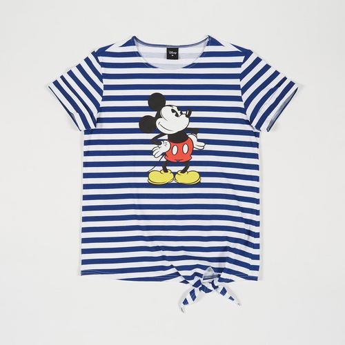 迪士尼 (Disney) 米老鼠女士条纹T恤 - M码