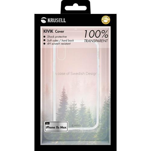 Krusell Kivik Cover Apple iPhone Xs Max Transparent