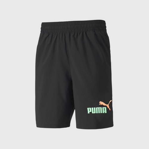 PUMA ESS 2 Col Logo Shorts SIZE S Black