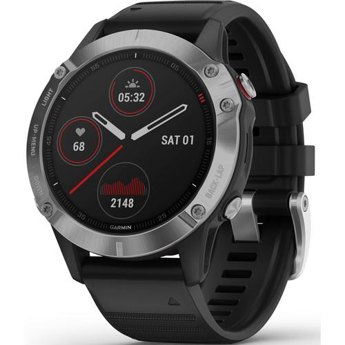 Garmin fēnix 6 (Silver with Black Band)