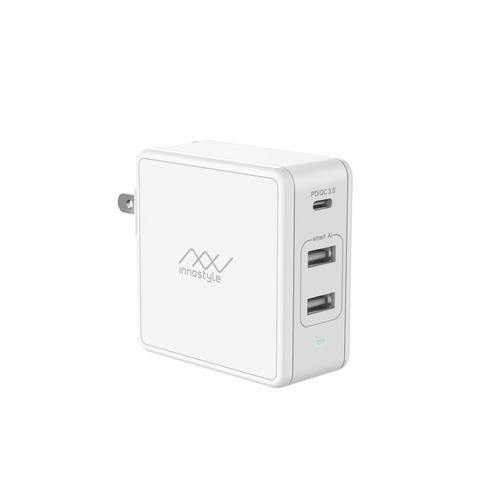 INNOSTYLE 2USB-A+1USB-C 充电插头 - 白色