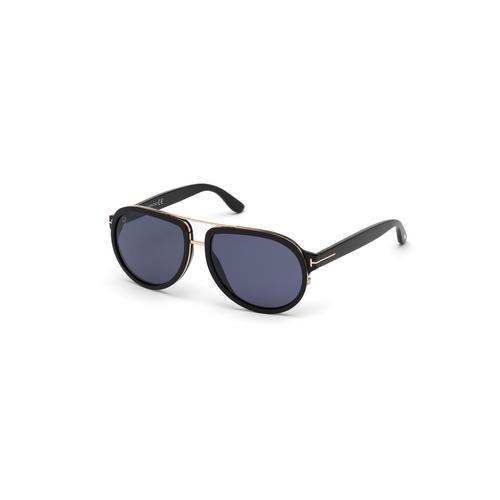 TOM FORD 60mm Plastic Shiny Black/ Blue